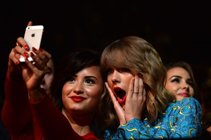 <strong>DEMI LOVATO AND TAYLOR SWIFT</strong>