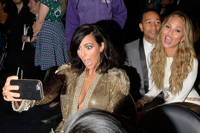 <strong>KIM KARDASHIAN, CHRISSY TEIGEN, AND JOHN LEGEND</strong>