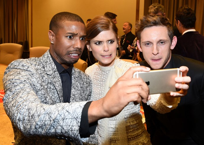 <strong>MICHAEL B. JORDAN, KATE MARA, AND JAMIE BELL</strong>