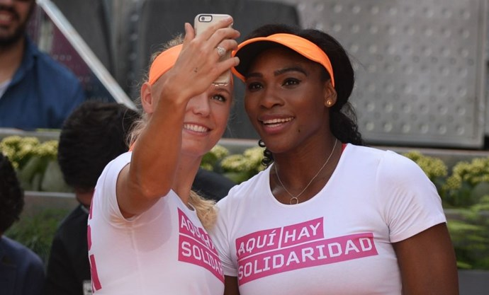<strong>CAROLINE WOZNIACKI AND SERENA WILLIAMS</strong>