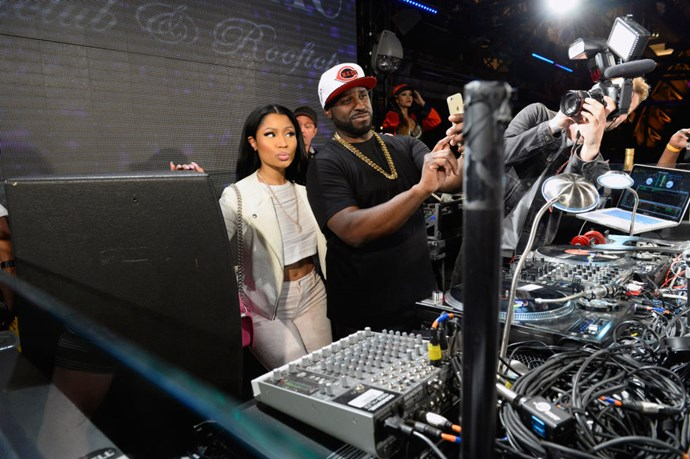 <strong>NICKI MINAJ AND DJ FUNK MASTER FLEX</strong>