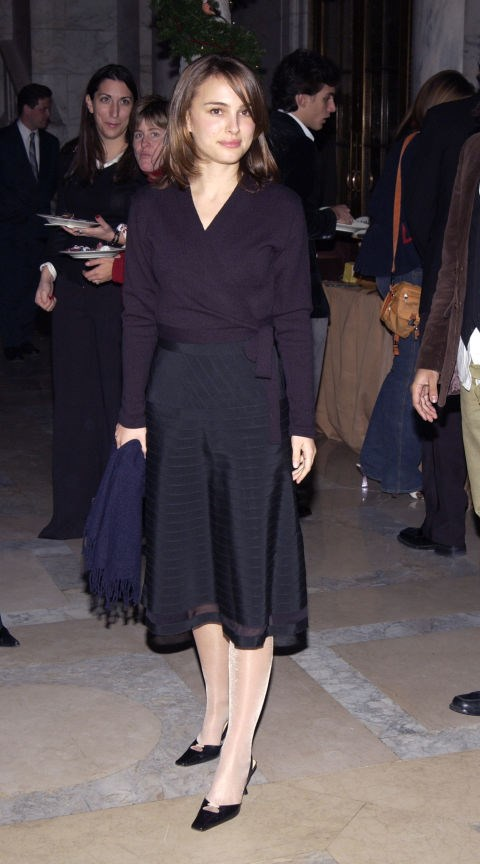 "2002<br> At the Gangs of New York Premiere After-Party: Portman keeps the classic look fresh in this ELLE favourite. ""Sometimes you're in the mood to be more quiet,"" she says. ""I stick to simple colors and clean lines."""