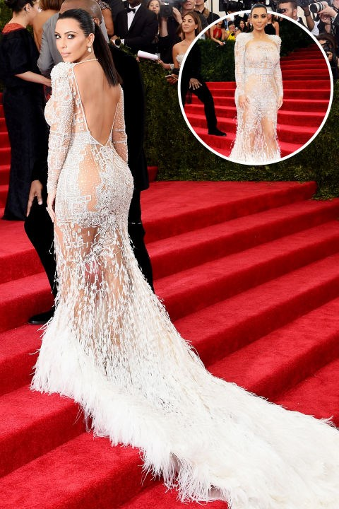 <strong>Kim Kardashian West</strong><br> In Peter Dundas for Roberto Cavalli at the 2015 Met Gala.