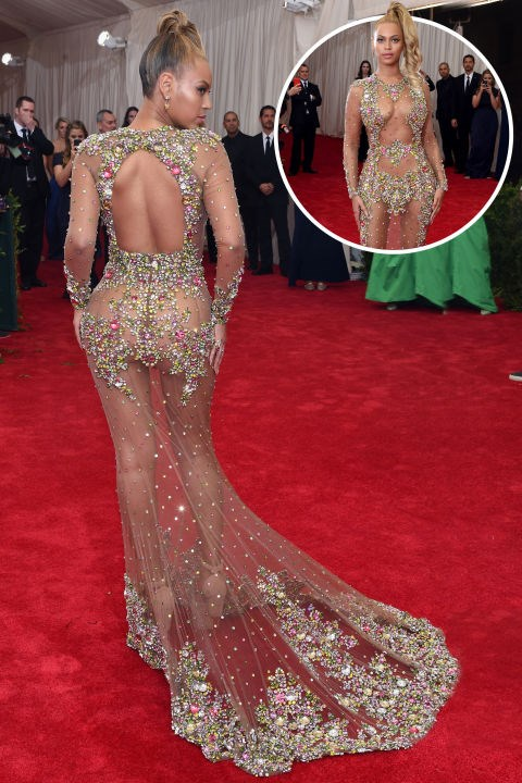 <strong>Beyoncé<br></strong> In Givenchy at the 2015 Met Gala.