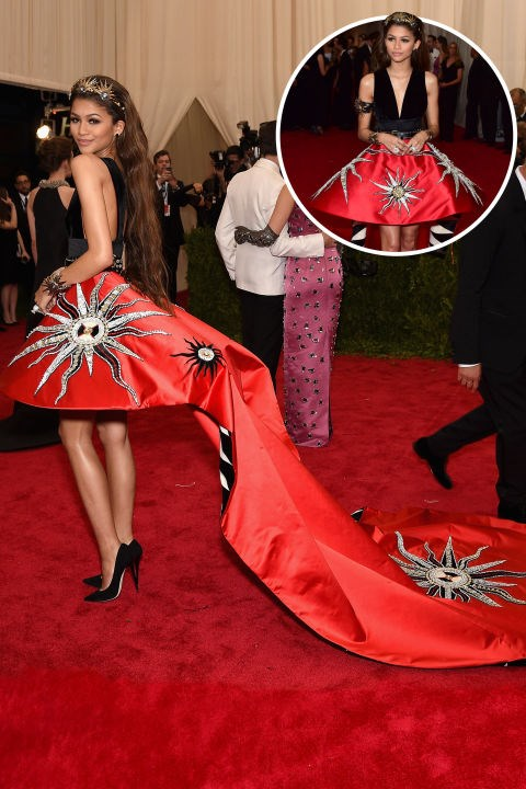 <strong>Zendaya</strong><br> In Fausto Puglisi at the 2015 Met Gala.