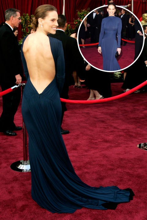 <strong> Hilary Swank</strong><br> In Guy Laroche at the 2005 Academy Awards