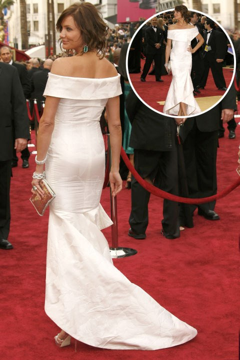 <strong> Cameron Diaz</strong><br> In Valentino at the 2007 Academy Awards