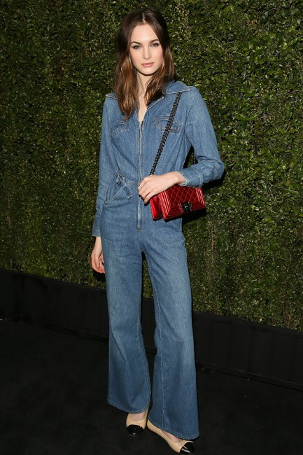 <strong>Hipster Denim</strong><br> Take your overalls #nextlevel by jumping into a full-on jumpsuit. Laura Love in Chanel makes it look easy breezy, but it's not for the fashion faint-hearted...