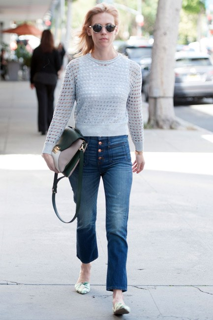 <strong>Cropped Denim</strong><br> Show off them ankles, girl! A pair of jeans in a cropped culotte silhouette, like January Jones's, will see you through this season and the next.
