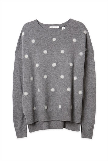 """Outfit two: <br/> <a href=""""http://www.countryroad.com.au/shop/woman/clothing/new-in/60179757/Felted-Spot-Knit.html """">Jumper</a>, $99.95, Country Road, countryroad.com.au"""