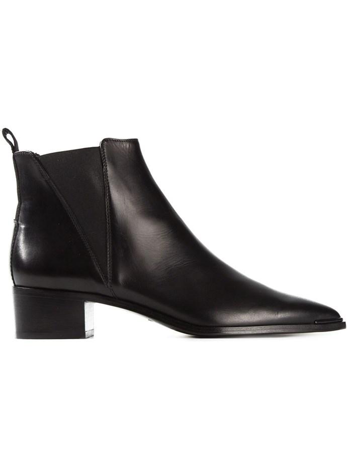 "Outfit three: <br/> <a href=""http://www.farfetch.com/au/shopping/women/acne-studios-jensen-ankle-boots-item-11041183.aspx?storeid=9699&ffref=lp_1_12_ "">Boots</a>, $547.67, Acne, farfetch.com"