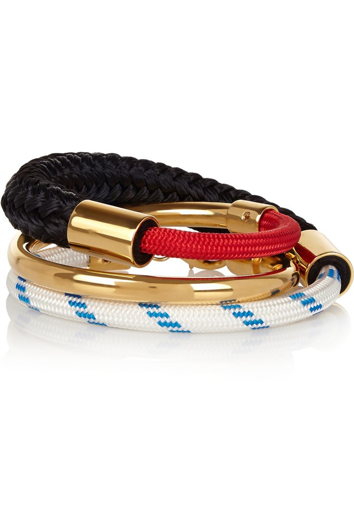 """Outfit two: <br/> Bracelet, $362.93, Marni, net-a-porter.com <a href=""""http://www.net-a-porter.com/au/en/product/542025 """"></a>"""
