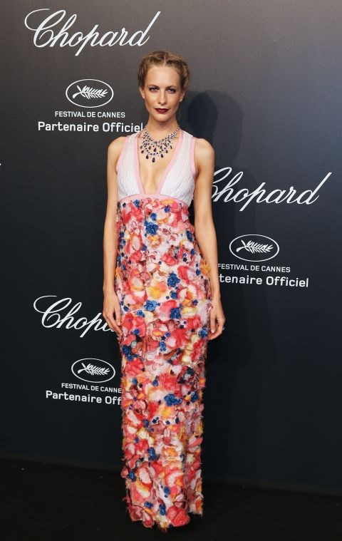 <strong>POPPY DELEVINGNE</strong> <BR> In Chanel Couture with Chopard jewellery