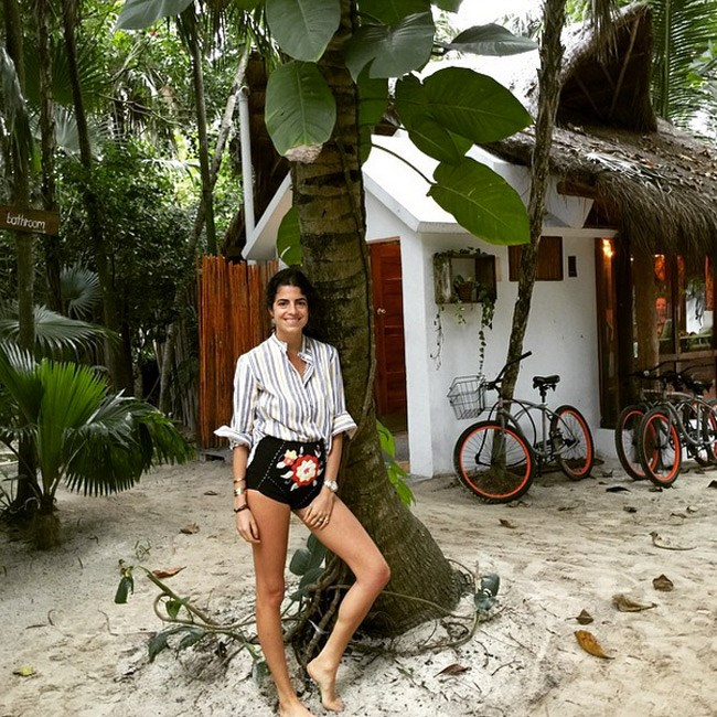 """<strong>Tulum, Mexico</strong><br> When you want to travel carry-on only, Tulum is where it's at. All you need is a bikini to bask in, yoga pants to yoga in, an off-the-shoulder dress to rub shoulders with NYC hipsters in and an appetite for farm-to-table food. Leandra Medine of <em>The Man Repeller</em> found her palm tree here and you can too. <br><br> <em>Image courtesy of <a href=""""https://instagram.com/leandramedine/"""">@leandramedine</a></em>"""