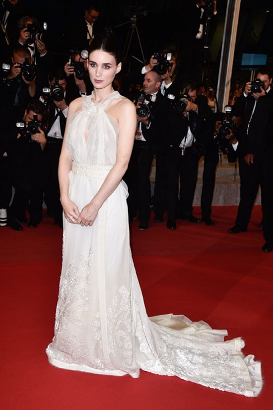 <strong>Rooney Mara</strong> wearing Olivier Theyskens for Rochas