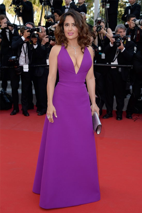 <strong>Salma Hayek</strong> wearing Gucci