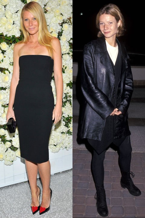 <strong>GWYNETH PALTROW</strong> <BR> <strong>Now:</strong> At the Barneys New York Victoria Beckham Collection dinner <BR> <strong>Then:</strong> At the <em>Flesh & Bone</em> premiere in 1993