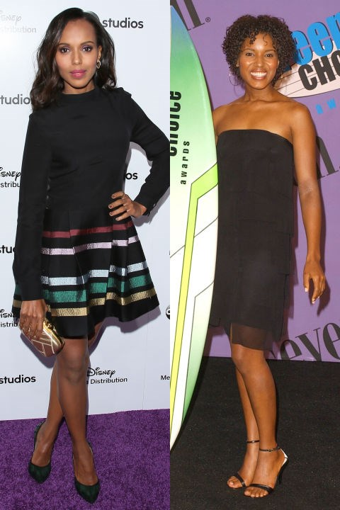 <strong>KERRY WASHINGTON</strong> <BR> <strong>Now:</strong> At the Disney Media upfronts <BR> <strong>Then:</strong> At the 2001 Teen Choice Awards