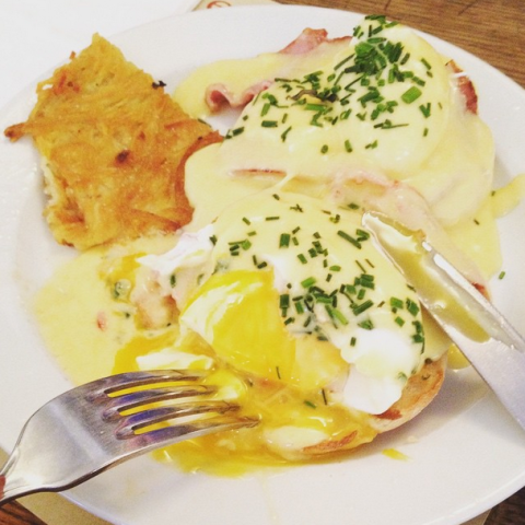 "<strong>BEST EGGS IN TOWN: COFFEE PARISIEN</strong> <BR> ""This is a really great American coffee shop,"" Kruger says of her go-to diner. ""And I know, why would you want to go somewhere that serves American food in Paris? But it's got great Eggs Benedict."""