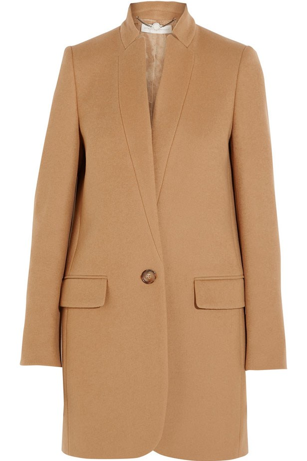"Coat, $1778, Stella McCartney, <a href=""http://www.net-a-porter.com/au/en/product/585147#"">net-a-porter.com</a>"