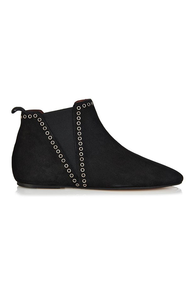 "Boots, $645, Isabel Marant, <a href=""http://www.matchesfashion.com/au/products/Isabel-Marant-Lars-flat-suede-boots-1001847"">matchesfashion.com</a>"