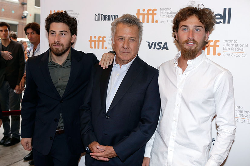 Dustin Hoffman with sons Max and Jake
