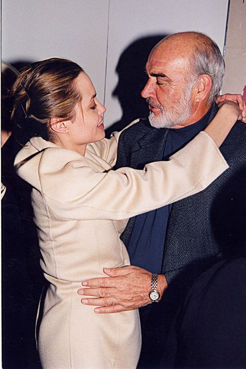 With Sean Connery at the 1998 premiere of <em>Playing by Heart</em>; they were co-stars, not dating.
