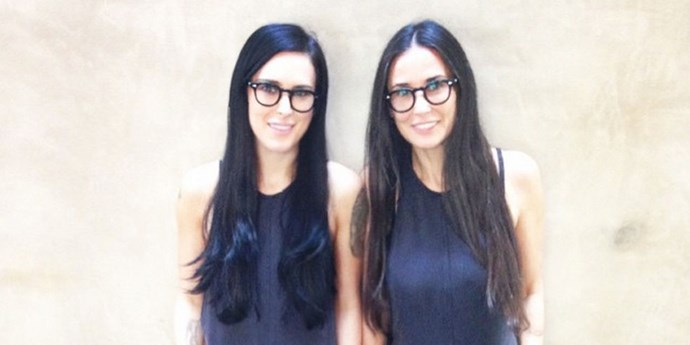 **Rumer Willis and Demi Moore**