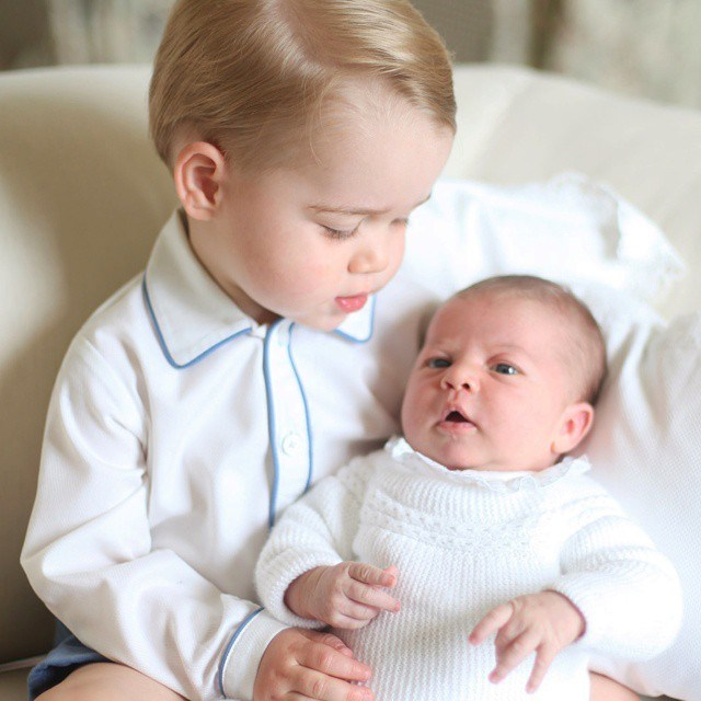 Prince George Princess Charlotte official photo