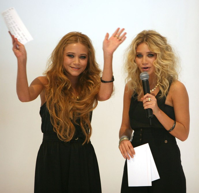 FEBRUARY 19, 2006 At the launch of their Mary-Kate and Ashley clothing line.