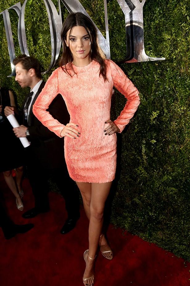 Kendall Jenner's custom Calvn Klein dress plays tricks on your eyes.