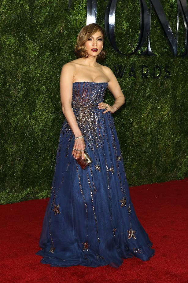 A little old Hollywood glamour for JLo.