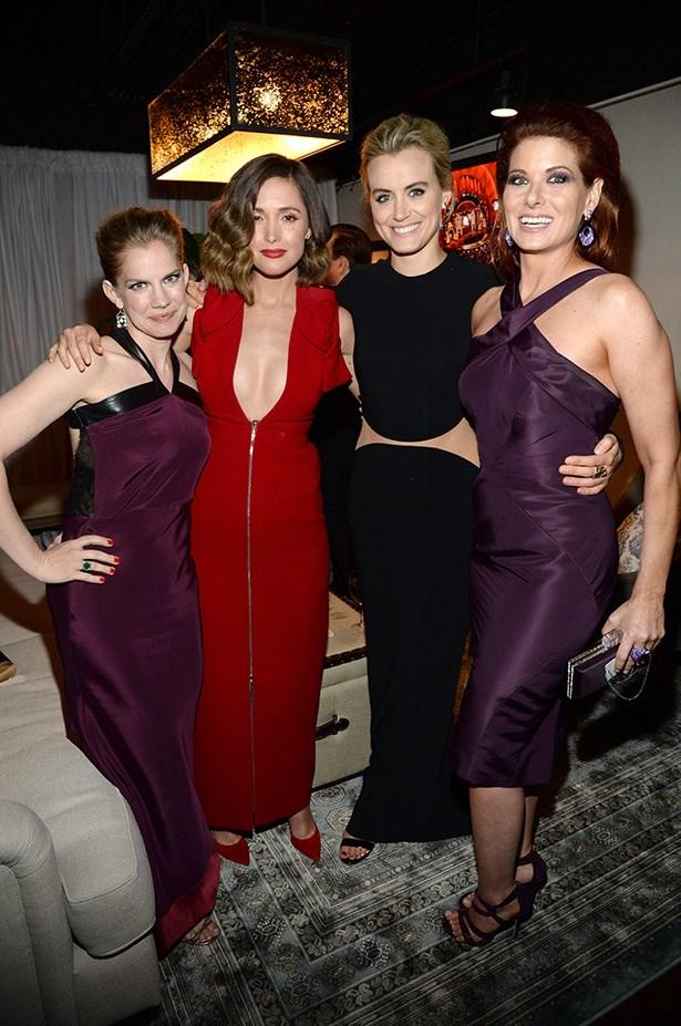 LADIES. Anna Chlumsky, Rose Byrne, Taylor Schilling, Debra Messing.