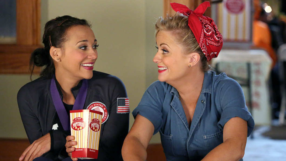 Ann and Leslie in Parks and Recreation