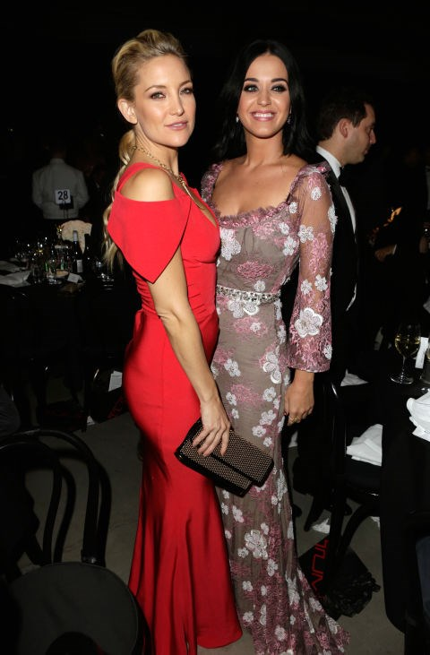 <p><strong>Kate Hudson and Katy Perry</strong> <p>Name-sharing friends (Katy's real name is Katheryn Hudson)