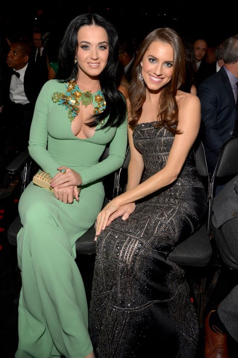 """<p><strong>Katy Perry and Allison Williams</strong> <p>""""Hottest [Grammy] date"""" friends."""