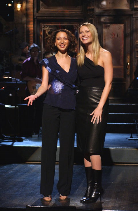 <p><strong>Maya Rudolph and Gwyneth Paltrow</strong> <p>Primary school friends.