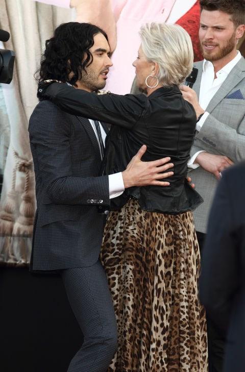 "<p><strong>Russell Brand and Helen Mirren</strong> <p><a href=""http://www.telegraph.co.uk/culture/8450212/Russell-Brand-tells-of-love-affair-with-Helen-Mirren.html"">""A Dame and a vagabond""</a> friends (Russell Brand's description)"