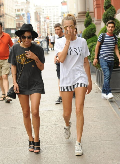 <p><strong>Zoe Kravitz and Cara Delevingne</strong> <p>Legs-for-days friends.