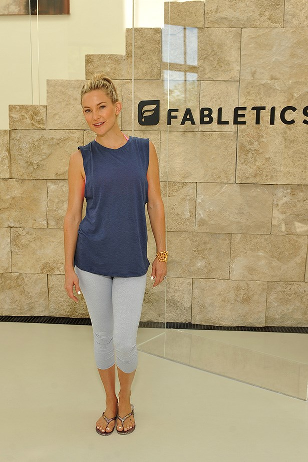 Kate Hudson has made stylish workout clothes her business.