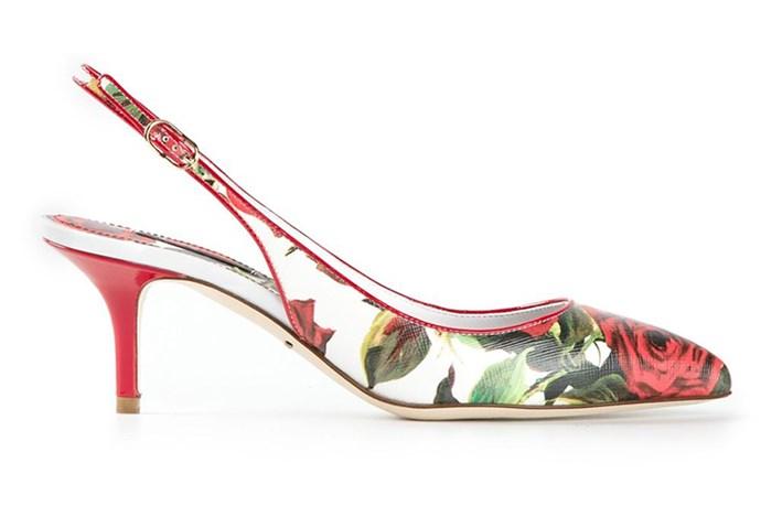 "Dolce & Gabbana Belluci K slingback pumps, <a href=""http://www.farfetch.com/au/shopping/women/dolce-gabbana-bellucci-k-sling-back-pumps-item-10927408.aspx?storeid=9657&ffref=lp_79_7_"">Net-a-Porter</a>"