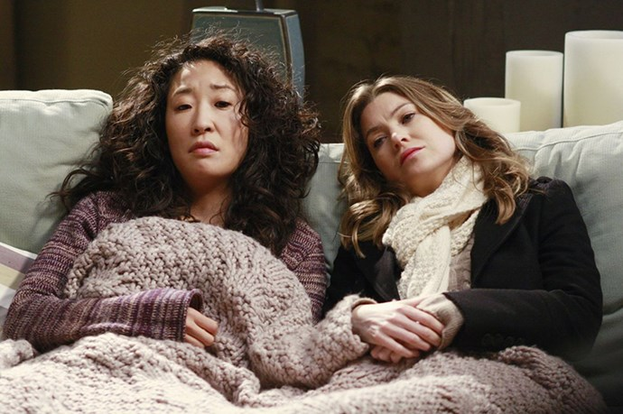 <strong>Meredith and Cristina</strong> from <em>Grey's Anatomy</em> <BR> <strong>Why they work:</strong> they can be cynical and complain about other people's happiness together <BR> <strong>Friendship life lesson:</strong> it's OK to laugh at yourself sometimes