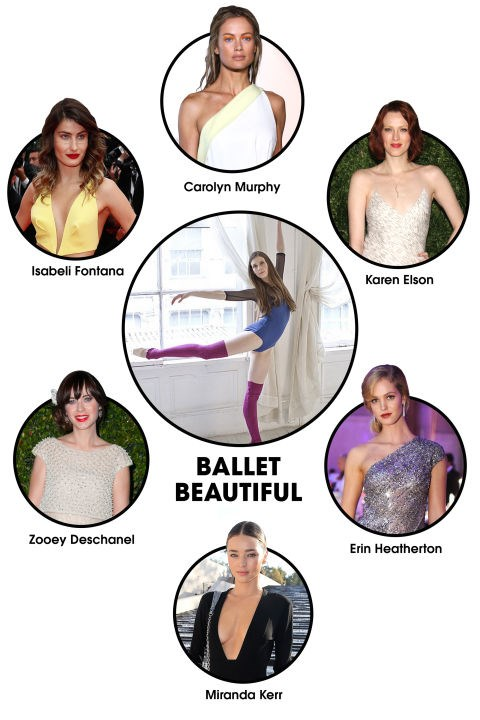 """BALLET BEAUTIFUL The workout: Former NYCB ballerina Mary Helen Bowers first got national recognition for getting Natalie Portman into <em>Black Swan</em> shape. Now, she's brought that graceful, body-sculpting regimen to the masses (including many model fans) with her hugely popular barre studio, Ballet Beautiful. It's based in New York, but streaming workouts are <a href=""""https://www.balletbeautiful.com/"""" target=""""_blank"""" sl-processed=""""1"""">available online</a>.</p><p> Celeb devotees: Isabeli Fontana, Carolyn Murphy, Karen Elson, Erin Heatherton, Miranda Kerr, Zooey Deschanel, Lily Aldridge, Doutzen Kroes."""
