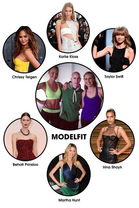 "MODEL FIT The workout: After earning his reputation as the <a href=""http://www.elle.com/beauty/health-fitness/advice/a15/i-worked-out-like-karlie-kloss-for-a-month/"" target=""_blank"">go-to guy for sculpting the lean yet toned physiques</a> of Victoria's Secret Angels, Justin Gelband teamed up with Vanessa Packer to create <a href=""http://www.modelfit.com/"" target=""_blank"">ModelFIT</a>, a fitness destination for catwalkers (or those who want that physique) in New York City. But it's not all models: Karlie Kloss managed to recruit BFF Taylor Swift, who is <a href=""http://www.elle.com/culture/celebrities/news/a15420/i-went-to-the-gym-like-taylor-swift/"" target=""_blank"">often seen leaving the studio (not a hair out of place, natch)</a>. Celeb devotees: Karlie Kloss, Irina Shayk, Martha Hunt, Taylor Swift, Candice Swanepoel, Chrissy Teigen, Behati Prinsloo, Erin Heatherton."