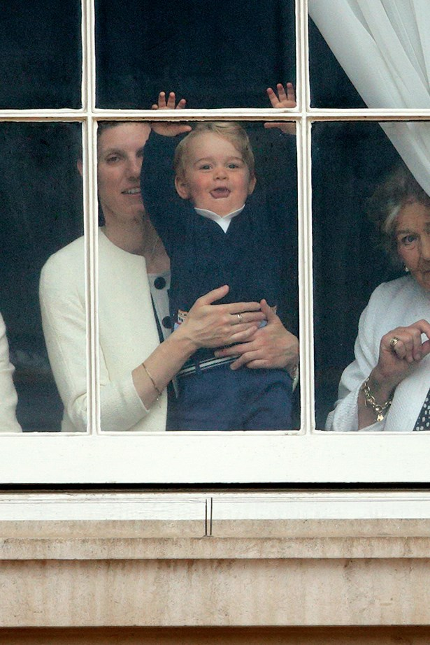 Prince George pretty much lost it when he spotted his dad in the parade. AND SO DID WE.