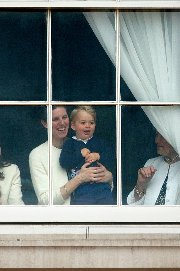 OMGEEEEE! Prince George just stealing the show. Sorry, fancy parade.