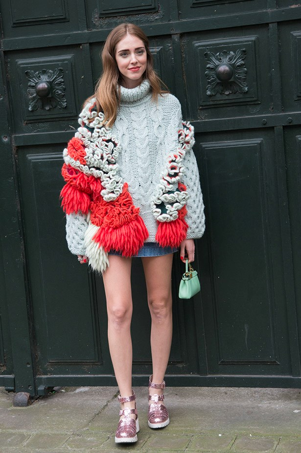 Add texture and have some fun, just like Chiara Ferragni.