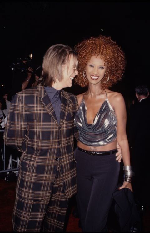 DAVID BOWIE AND IMAN (1990-PRESENT) After meeting on a blind date, Bowie and Iman married in Switzerland in 1992. They have been together ever since and have a daughter together.