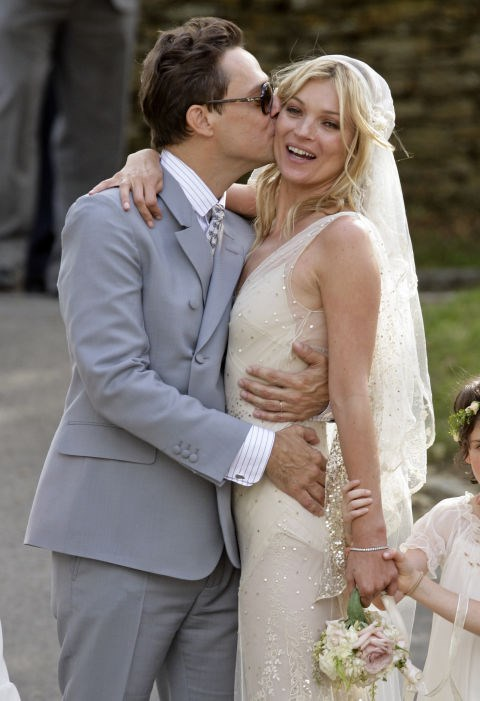 KATE MOSS AND JAMIE HINCE (2007-PRESENT) After her tumultuous relationship with Pete Doherty, Moss married Hince (of The Kills) in 2011—in a custom-made gown by John Galliano.