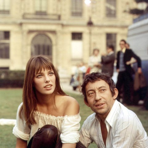 JANE BIRKIN AND SERGE GAINSBOURG (1968-1980) Birkin was Gainsbourg's famous muse, and though the two never officially married, they did have one child, Charlotte, before their split in 1980.